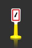 Gardez le poteau de signalisation gauche Images libres de droits