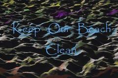 Gardez notre plage ne nettoient aucun graffiti Images libres de droits