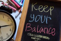Gardez votre équilibre photos stock