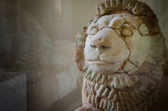 Gardian Lion. This lion statue dates to 14th century BC Stock Image
