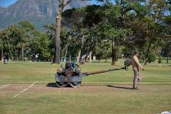 Gardien d'au sol de cricket images libres de droits