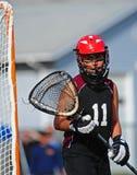 Gardien de but 11 de Lacrosse photographie stock libre de droits