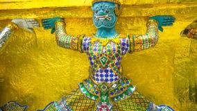 Gardien de démon chez Wat Phra Kaew, le temple d'Emerald Buddha à Bangkok, Thaïlande images libres de droits