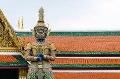 Gardien de démon chez Wat Phra Kaew, temple de l'émeraude, Bangkok Image libre de droits
