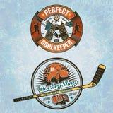 Gardien de but d'hockey Images stock
