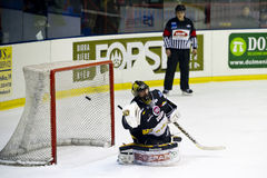 Gardien de but de hockey sur glace Photographie stock