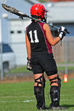 Gardien de but de Lacrosse image stock