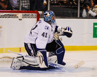 Gardien de but de Mike Smith Tampa Bay Lightning Images libres de droits