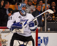 Gardien de but de Mike Smith Tampa Bay Lightning Photographie stock libre de droits