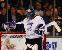 Gardien de but de Mike Smith Tampa Bay Lightning Photo stock