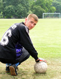 Gardien de but du football Photo libre de droits