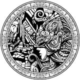 Gardien du royaume sous-marin illustration de vecteur