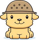 Gardien du zoo de sourire Puppy de bande dessinée Photo stock