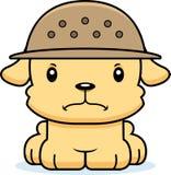 Gardien du zoo fâché Puppy de bande dessinée Photographie stock libre de droits