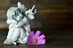 Gardien et fleur d'ange Photos libres de droits