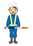 Gardien féminin du trafic Photo stock