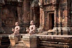 Gardiens de Banteay Srei Images libres de droits