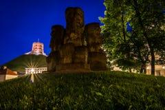Gardiens de château de Gediminas Image libre de droits