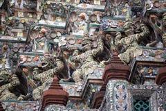 Gardiens géants chez Wat Pho Photos libres de droits