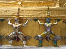 Gardiens thaïs de temple Photo libre de droits