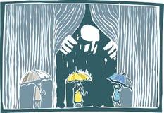 Gardin av regnfärg royaltyfri illustrationer