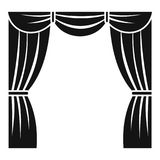Gardin på etappsymbolen, enkel stil vektor illustrationer