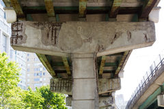 Gardiner Expressway damage Royalty Free Stock Photo