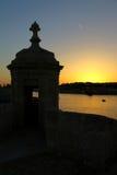 Gardjola в St Angelo форта, грандиозной гавани, Мальте стоковые фотографии rf