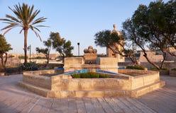 Gardjola Gardens in the early morning, Senglea, Malta Stock Images