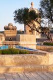 Gardjola Gardens in the early morning, Senglea, Malta Stock Image