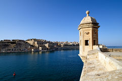 Gardjola lookout overlooking Valletta Royalty Free Stock Photos