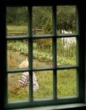 The gardner. Woman gardening in the garden Royalty Free Stock Image