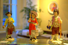 Gardner children figurines Royalty Free Stock Photo