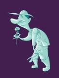 Gardner de fantôme de bande dessinée Photos stock