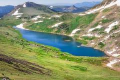 Gardner Lake of Beartooth Pass. Peaks of Beartooth Mountains, Shoshone National Forest, Wyoming, USA. stock photos