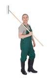 Gardner masculin avec l'outil de jardinage ? Images libres de droits