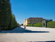Gardnes and pavilions in the Schonbrunn Palace in Vienna, Austria Stock Image