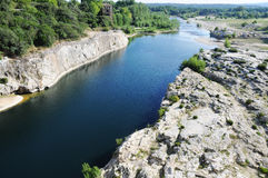 Gardon river in France Stock Photo