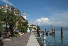 Gardone Riviera on Lake Garda Italy Stock Photos