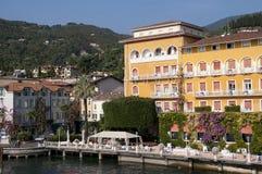 Gardone Riviera sulla polizia Italia del lago Immagine Stock