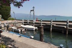 Gardone Riviera sulla polizia Italia del lago Immagini Stock Libere da Diritti