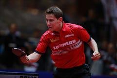 GARDOS Robert backhand. GARDOS Robert from Austria backhand. 2017 European Championships - First round. Luxembourg Stock Photos
