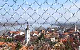 Gardos tower. Panoramic view from gardos zemun with saint nicholas church belgrade republic of serbia Stock Image