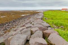 Gardur beach iceland Reykjanes Peninsula royalty free stock photos
