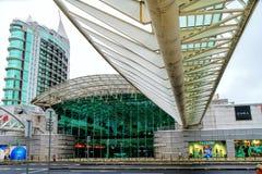 Gare做Oriente或里斯本Oriente驻地,其中一个葡萄牙联运方式运输插孔 库存图片
