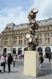 Gare圣徒Lazare,巴黎法国和La€THeureure de Tous 库存图片