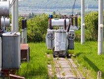 Gare à haute tension de transformateur Images stock