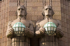 Gare centrale de Helsinki. Groupe Photographie stock