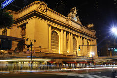 Gare centrale de New York la nuit Images libres de droits