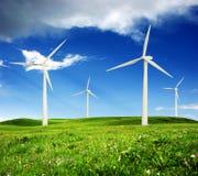 Gare d'énergie éolienne Image libre de droits
